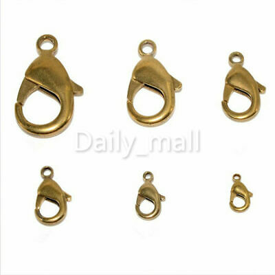 Brass Lobster Claw Clasps Jewelry Fastener Hook Finding Bag snap hook10-27mm