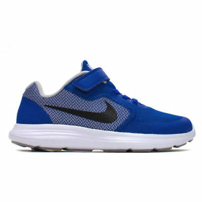 Nike Revolution 3 (PSV) 819414-402 Royal Blue White Youth Boy's Running Shoes