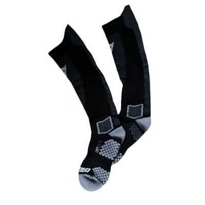 New Dainese D-Core High-Length Adult Compression Socks,Black/Anthracite,Small/SM