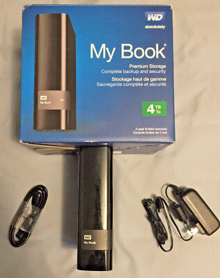 Western Digital WD My Book 4tb External HDD USB 3.0