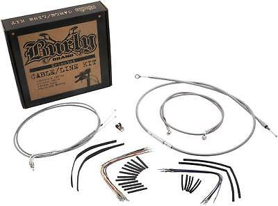 Burly Brand Cable/Brake Line Kit, Stainless, 18-Inch Ape Hangers, #B30-1060
