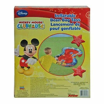 Disney Inflatable Bean Bag Toss Mickey Mouse Game in Color Box (Outdoor/Indoor )