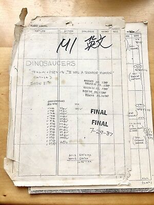 Dinosaucers  Animation Storyboard Production Staff's Copy 1987