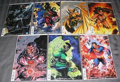 Justice League 1-7 Jim Lee Variant Covers