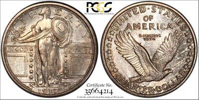 1917-S Type 1 * PCGS MS63 FH SECURE * Silver STANDING LIBERTY Quarter Dollar 25c