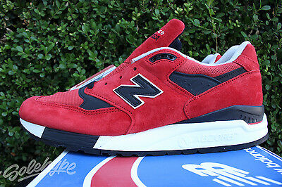 online retailer fd9b2 61ca1 NEW BALANCE 998 Sz 12 Black Red American Rebel Made In The Usa M998Ro