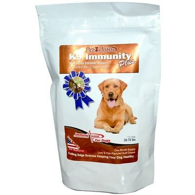 K9 Immunity Plus For Dogs Liver & Fish Flavoured Soft Chews 60 Wafers, Aloha