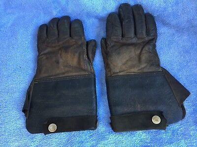 Antique Vintage Leather Motorcycle Gloves