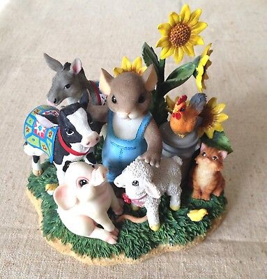 Charming Tails Fitz & Floyd Dairy Good Friends, Special Event Ltd. Ed. 98/453