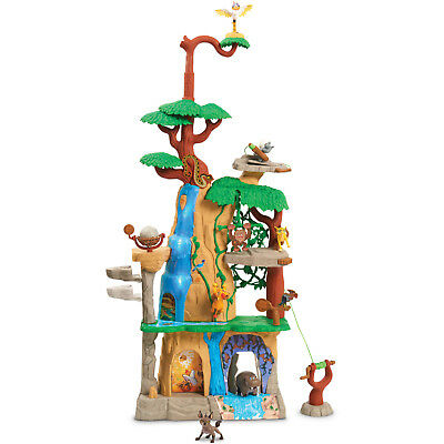 Disney Lion Guard Training Lair Playset Real-working Zip line Rock Lift Collect