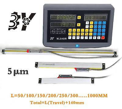 2 Axis Digital Readout for Milling Lathe Machine DRO Precision Linear Scale New