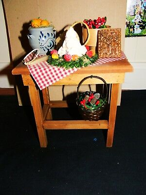 Authentic Byers Choice Ltd 2013 Caroler Accessory Tavern Table From Williamsburg
