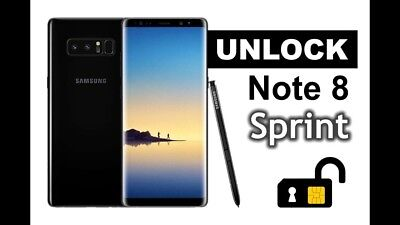 Samsung Galaxy Sprint S8/S8 Plus, Note 8 Remote Unlock Service