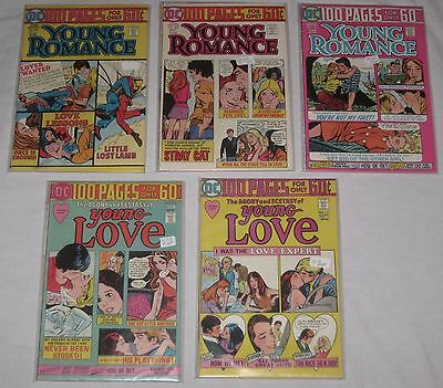 BRONZE Age DC Lot/ 5 100 PAGE SUPER SPECTACULARS ~YOUNG LOVE avg FN/VF