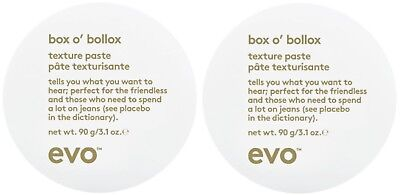 """EVO HAIR BOX O BOLLOX TEXTURE PASTE 90g X 2 """" limited time for this price """""""