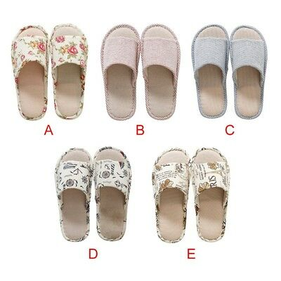 New House Indoor Slippers Home Winter Warm Linen Plaid Shoes Sandals Anti-Slip