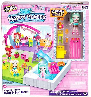 Shopkins - Happy Places Shopkins Happy Home Pool And Sun Deck set - Brand New