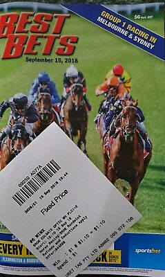 Winx Best Bets Optic White Stakes & Betting Ticket