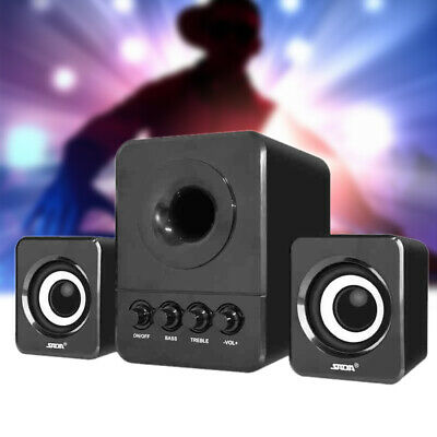 USB Wired 2.1 Mini Computer Speakers Subwoofer 3.5mm Jack for Desktop Laptop PC