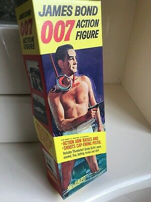 Rare Boxed Gilbert toys James Bond Action Figure