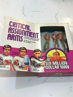 Rare Boxed Six Million Dollar Man Critical assignment arms