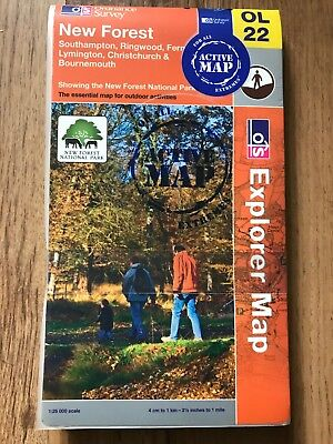 OL22 New Forest Ordnance Survey Explorer Map OL 22