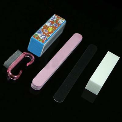 5Pcs/Set Pro Manicure Tools Rectangular Nail Files Brush Accessories Nail Art