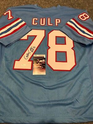95cfe0b5 Houston Oilers Curley Culp Autographed Signed Inscribed Jersey Jsa Coa