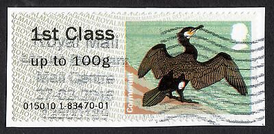 "GB: Cormorant from Post & Go Birds (4th series); ""!st class""; fine used"