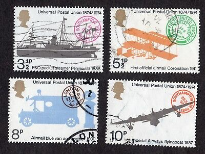 Great Britain: Centenary of Universal Postal Union (UPU); complete fine used set
