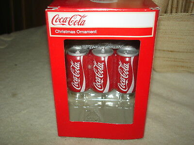 Kurt Adler Coca-Cola Six Pack Cans Christmas Tree Ornament: New In Box