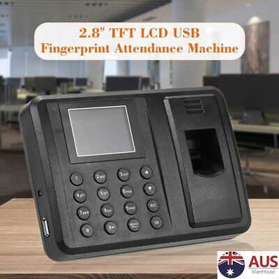 Time Recorder A8  Biometric Attendance Check Machine USB Fingerprint+ Password