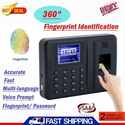 A8 Biometric Time Recording Attendance Check Machine USB Fingerprint+ Password