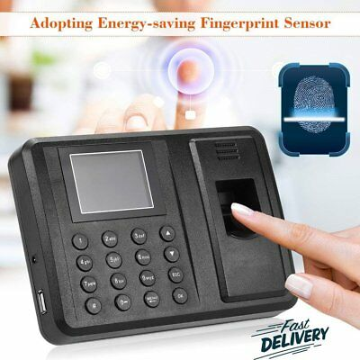 Attendance Check Machine Biometric Time Clocking Record USB Fingerprint+Password