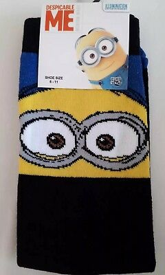NEW WITH TAGS Mens Black Socks Despicable Me sizes 6-11 39-46