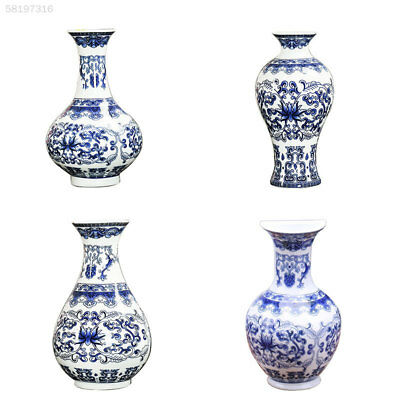 EEA7 Antique Wall Mounted Traditional Chinese Porcelain Vases Flower Painted Rar