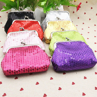 Glitter Sequins Mini Purse Coin Clutch Small Wallets Card Holder Case Makeup Bag