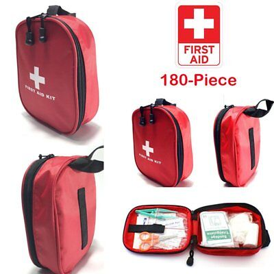 OKUN 180PC Premium First Aid Kit Emergency Medical Bag Set Home Car Taxi Travel