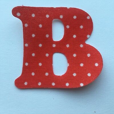 5 X Large  Iron On Fabric Initial  Letters Choice Of Colours