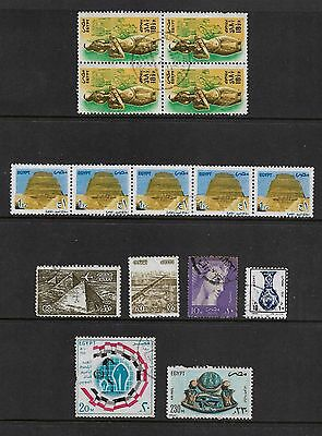 EGYPT mixed collection No.8, incl joined strip & block of 4
