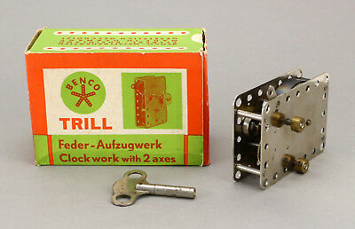 BENCO Trill Uhrwerk Motor Metall Baukasten OVP Vintage 50's Wind Up Tin Toy