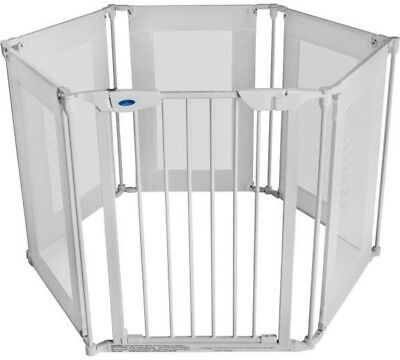 BabyStart FABRIC Metal Baby Playpen 3in1 Fire Guard Room Divider Safety Gate