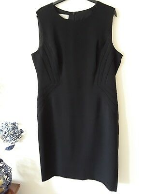 Ladies Black Semi Fitted Sleeveless dress By Hobbs,  Size 16