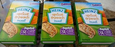 3x Heinz Breakfast Apricot & Peach Muesli 10mth+ (3x200g)#FREE UK DELIVERY #