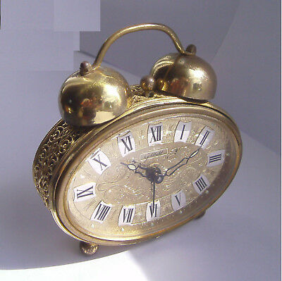 Vintage - Mechanical - Goldbuhl - Twin Bell - German - Alarm Clock - 50/60's