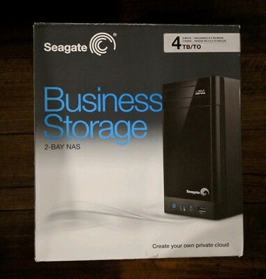 Seagate Business Storage  2 Bay NAS. Includes 4TB Storage. AS NEW -- FAST POST