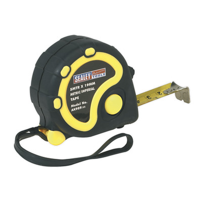 AK989 Sealey Rubber Measuring Tape 5mtr(16ft) x 19mm Metric/Imperial