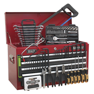 AP2201BBCOMBO Sealey Topchest 6 Drawer Red/Grey & 99pc Tool Kit