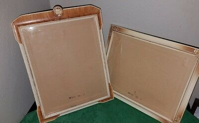 Pair Of Antique VICTORIAN Wooden Picture Frames~Carved CAMEO & GESSO Corners!