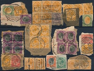South Africa, Classic Used Lot On Fragments With Diff. Postmarks.   #k159